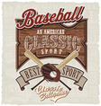 best american classic baseball vector image vector image