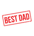 Best Dad rubber stamp vector image