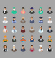 big set of people avatars with different vector image vector image