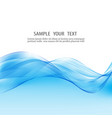 blue abstract background smooth lines vector image vector image