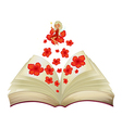 Book Flower Fairy vector image vector image