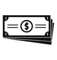 business money icon simple black style vector image vector image