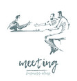 business people meeting team work concept vector image vector image