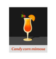 candy corn mimosa cocktail menu item or any kind vector image vector image