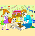 childrens cartoon color of the holiday birthday vector image vector image