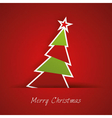 Christmas Tree With Red Background vector image vector image