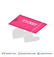 cinema entry ticket icon isolated on white vector image vector image