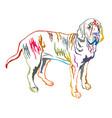 colorful decorative standing portrait of fila vector image vector image