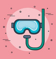 colorful snorkel design vector image
