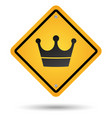crown road sign vector image vector image