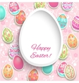 Easter frame with eggs vector image vector image