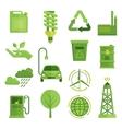 Ecology Decorative Flat Icons Set vector image vector image