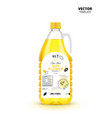 extra virgin sunflower oil plastic bottle vector image