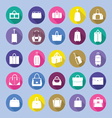 Fashion bag collection in flat style vector image vector image