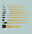 flat artist brush set vector image vector image