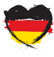 german heart shape flag vector image vector image