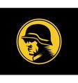 german soldier mascot label vector image