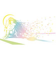 girl with violin dreaming vector image