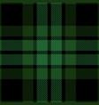 green and black tartan plaid seamless pattern vector image vector image