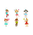 happy boys and girls celebrating party vector image vector image