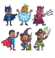 happy halloween cartoon cute children vector image