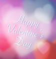 Happy Valentines Day Background with Heart Love vector image vector image