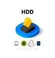 HDD icon in different style vector image vector image