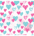 heart seamless pattern holiday background vector image