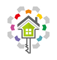 home key house lock security buiding icon vector image