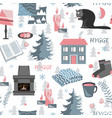 hygge seamless pattern with vector image vector image