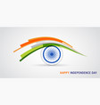 indian holiday happy independence day celebration vector image vector image