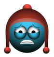 isolated worried emoji vector image
