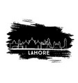 lahore pakistan city skyline silhouette hand vector image vector image