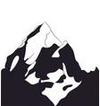 landscape mountains silhouette vector image vector image