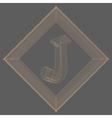 letter J Fonts of Mesh vector image