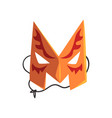 letter m formed by colorful masquerade mask vector image vector image