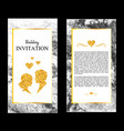 marble wedding invitations thank you card rsvp vector image vector image