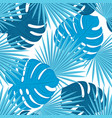 monstera leaves and palm trees trendy tropical vector image vector image