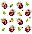 mulled wine glintwein pattern vector image