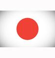 national flag japan vector image vector image
