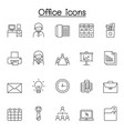 office icons set in thin line style vector image vector image