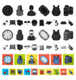 paintball team game flat icons in set collection vector image