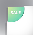 Paper corner with Sale sign vector image vector image
