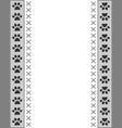 paw prints animal border frame card vector image
