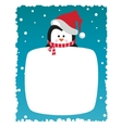 penguin on snowy background vector image
