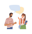 people communicating brainstorming speech bubbles vector image vector image