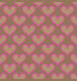 pink beige hearts seamless background pattern vector image vector image