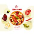 pizza diabola recipe vector image vector image