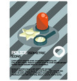 police color isometric poster vector image vector image