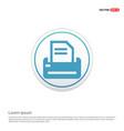 printer icon - white circle button vector image